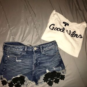 🦋Express Jean shorts & Top Outfit 🦋